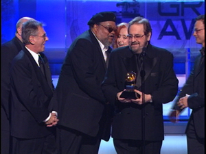 Don Mizell receiving his Grammy